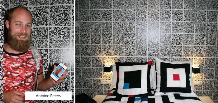 De Patchwork kamer van Antoine Peters in hotel Modez in Arnhem