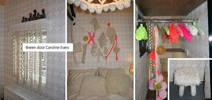 De gebreide kamer in Hotel Modez door Caroline Evers