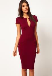 Rood jurkje zakelijk