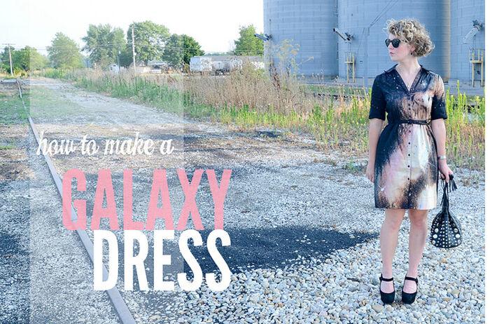 DIY Tutorial Galaxy Dress