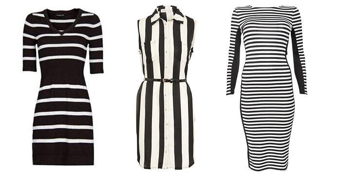 Zwart-wit gestreepte jurkjes | Jurkjes.nl