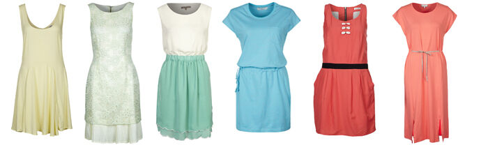 Pastelkleuren trend jurkjes zomer