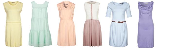 Pastelkleuren jurkjes trend zomer