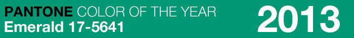 Pantone kleur van het jaar 2013: Smaragdgroen