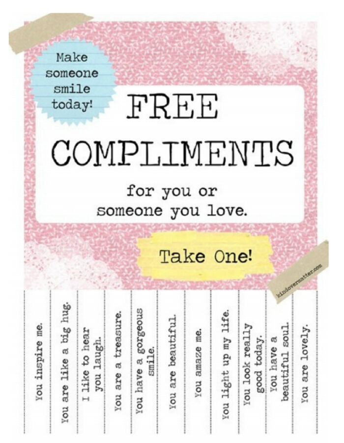 Nationale Complimentendag - Free Compliments