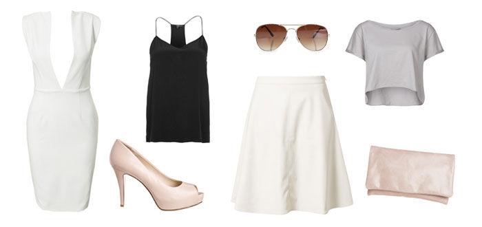 Minimalistische outfit voor een bruiloft