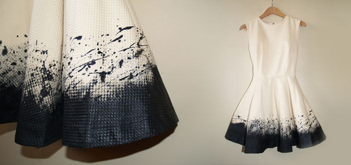 Jackson Pollock DIY jurk