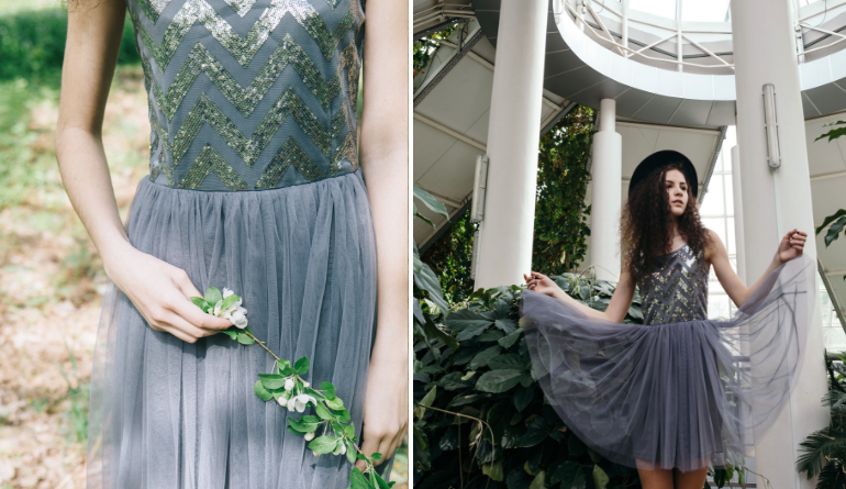 metallic jurken