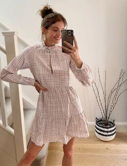 Geruite jurk-Roze