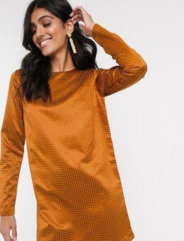 ASOS DESIGN Tall - Mini-jurk versierd met studs-Goud
