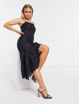 Limousine - Midi-jurk in zwart-Rood