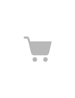 Off-shoulder midi-jurk met blouson-mouwen en smokwerk in roze, abstracte print-Multi
