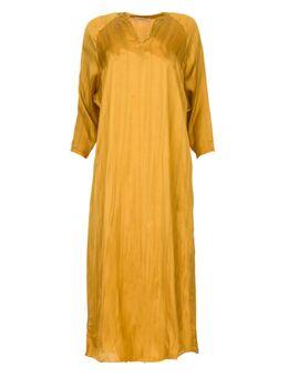 Wijde maxi jurk Bole goud