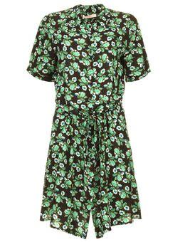 Mini jurk met bloemenprint Suzy groen