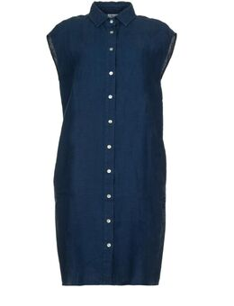 Linnen jurk Kristal blauw