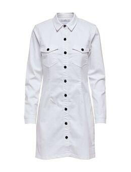 Denim blousejurk wit