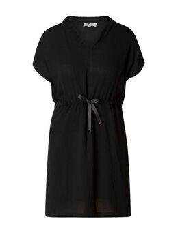 Jersey jurk Ezra met ruches zwart