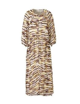 Gestreepte maxi jurk DitaIW Dress beige/geel/bruin