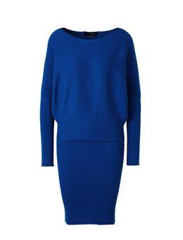 Gebreide jurk kobaltblauw