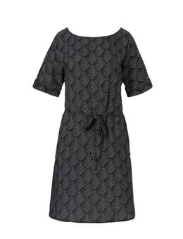 Strandjurk met all over print zwart/wit