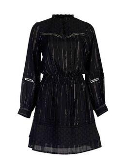 Gestreepte jurk zwart