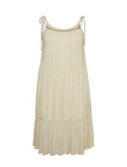Gestreepte jurk beige/geel