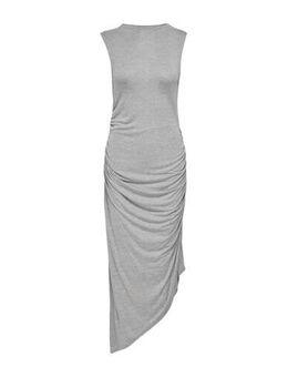 Jersey jurk Rikka met plooien grijs