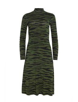 Jurk met zebraprint groen/zwart