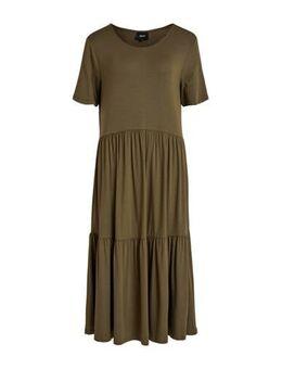 Jersey jurk groen