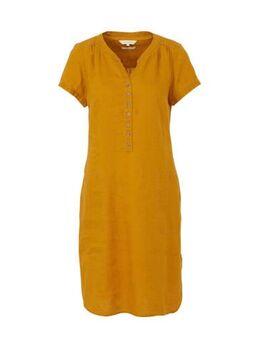 Linnen jurk Aminas bruin