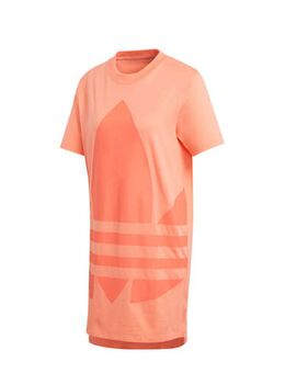 Originals T-shirt jurk oranje/koraalrood