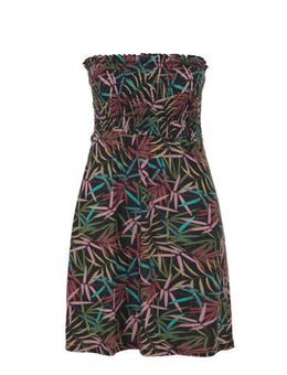 Strapless jurk met smock