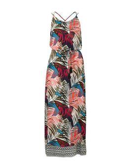 Maxi jurk met tropische print