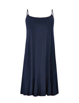 Jersey jurk met volant donkerblauw