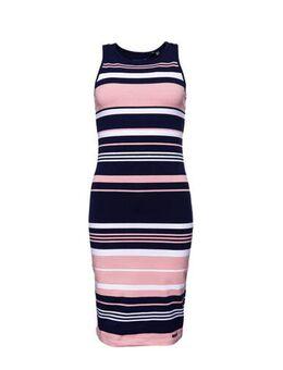 Jersey jurk roze/blauw/wit