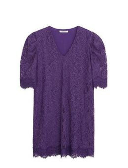 Kanten jurk en kant paars